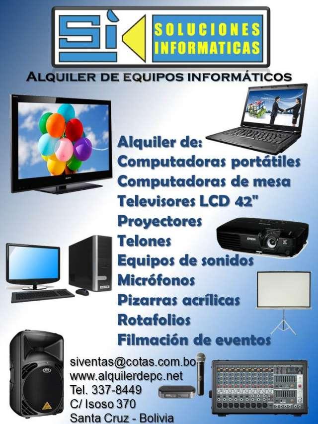 Alquiler de televisores, computadoras y proyectores