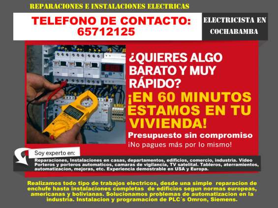 Electricista en cochabamba