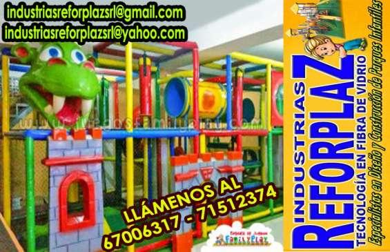 Juegos infantiles en fibra d e vidrio bolivia