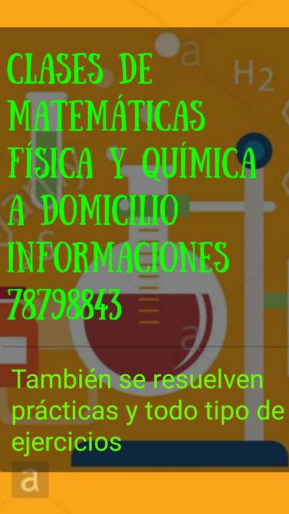 Profesor enseña matemáticas física y química a domicilio78798843 en la paz bolivia